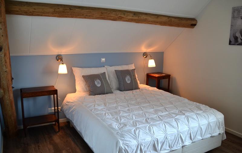 Slaapkamers bed op de reth - Blauwe nachtkamer ...