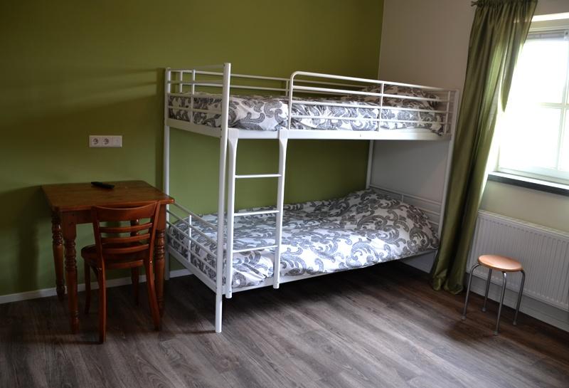 Slaapkamers bed op de reth